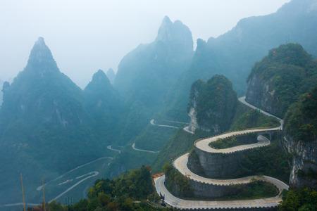 Zhangjiajie Panshan Highway, Hunan Banco de Imagens