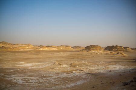 Egypt Baihaliya Oasis Black and White Desert Scenery