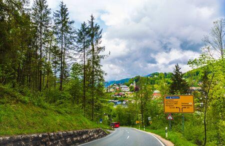 Winding mountain road in Berchtesgaden, Germany Stockfoto