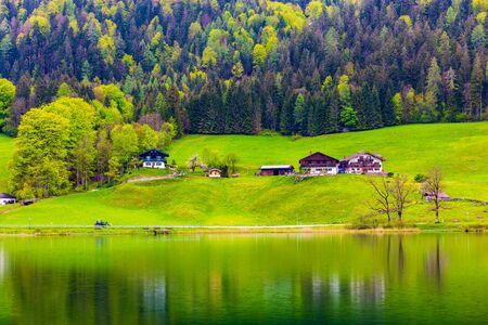Scenery of the back lake in Ramsau, Germany Foto de archivo
