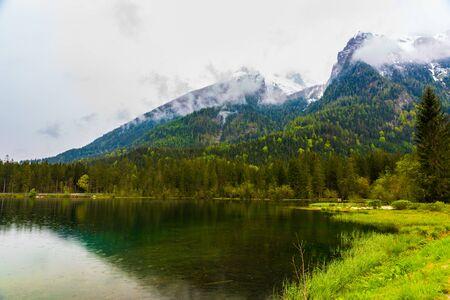 Scenery of the back lake in Ramsau, Germany Stockfoto