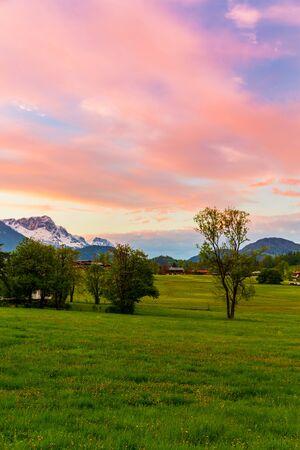 Sunset in Ramsau, Germany