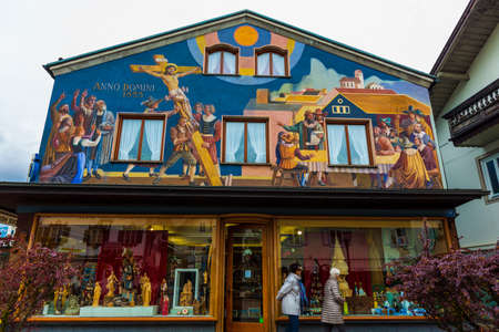 Mural town of Obermegg, Germany