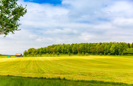 Countryside scenery in Hechingen, Germany