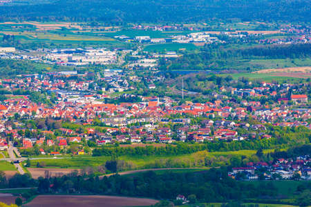 Scenery of the small town of Hechingen, Germany Banco de Imagens