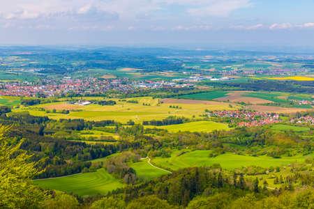 Rural scenery in Hechingen, Germany