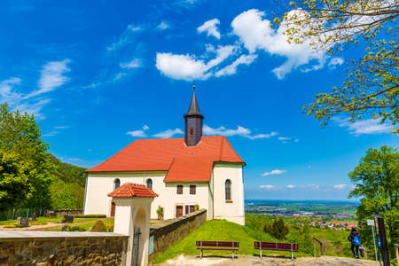 Pilgrimage Church of Mariazell in Hechingen, Germany Editorial