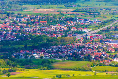 Scenery of the small town of Hechingen, Germany Editorial