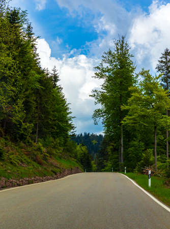 Scenery of the Black Forest Highway in Heidelberg, Germany