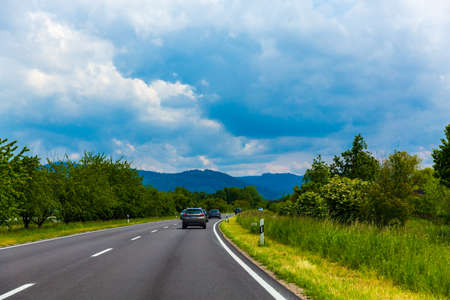 Scenery of Freiburg Highway in Germany