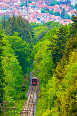 Ropeway at Throne Mountain, Heidelberg, Germany