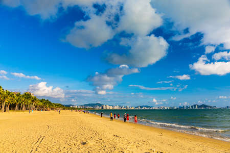 Scenery of Coconut Dream Corridor in Sanya, Hainan, China