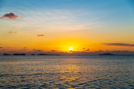 Sunset over the seaside of Sanya, Hainan, China