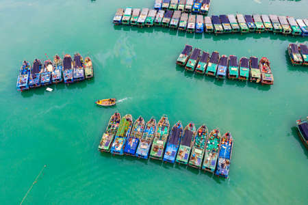 Scenery of fishing port in Dongfang City, Hainan Province, China