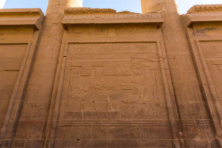 Close-up of Philae Temple in Aswan, Egypt, Africa