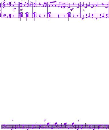 Extraits de Partition musique Vector