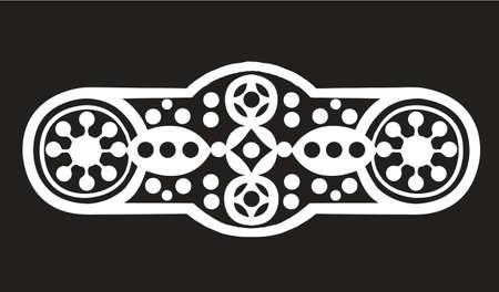 sigle logo white with black background