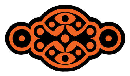 sigle logo Black and orange