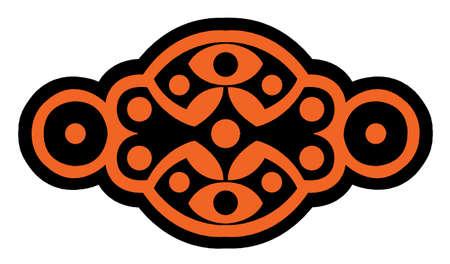 came: sigle logo Black and orange