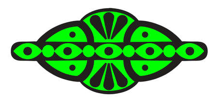 sigle logo Black and green