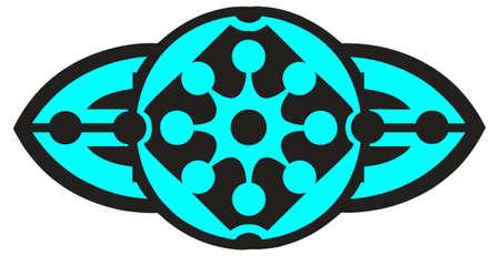 sigle logo Black and blue