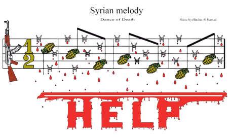partition musique: syrien partition m�lodie