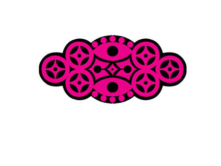 sigle logo Black and purple