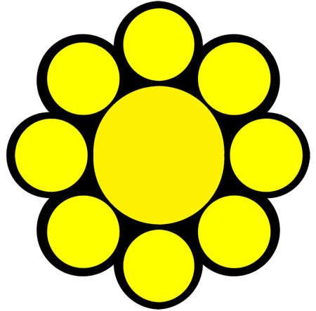 sigle logo Yellow and Black   Illustration