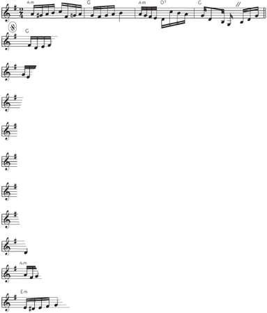 Music Score VII Vector