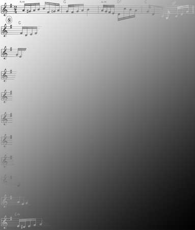 musical score: Music Score VIII Illustration