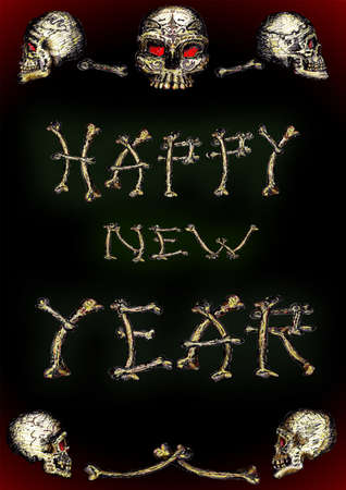 entered: Skull Happy New Year