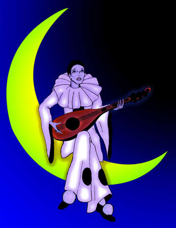 pierrot: Pierrot Moon Illustration