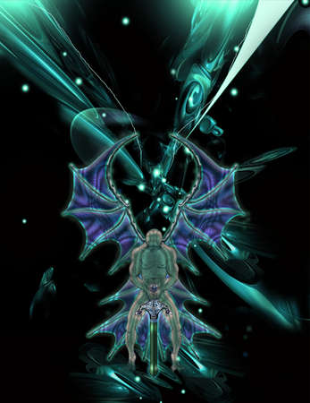 Dark angel space         Vector