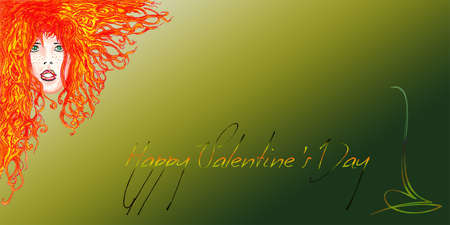 nigth: Happy Valentine s Day Red Woman