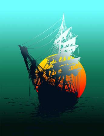 Ghost Ship Illustration