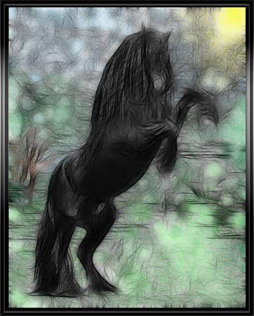 mythologie: Black Horse
