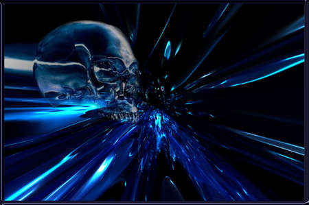 Blue Metal Skull Stock Vector - 18201219