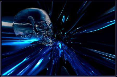 mythologie: Blue Metal Skull