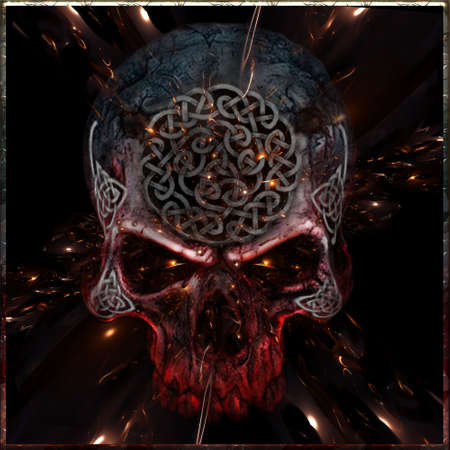 Celtic Skull Space Gold
