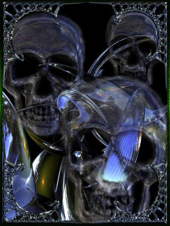 Metal Skull Illustration