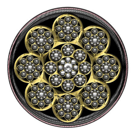 mythologie: Metal Flower