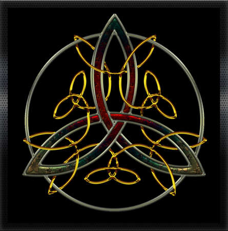 Celtic cross full metals VI Vector