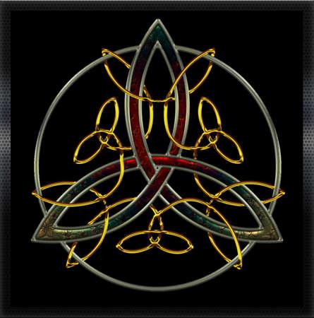 celtico: Croce celtica pieno metalli VI Vettoriali