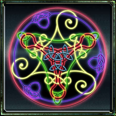 Full Celtic Triskel Fluo Vector