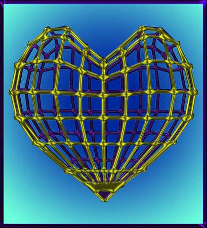 Coeur Cage Dor� Illustration