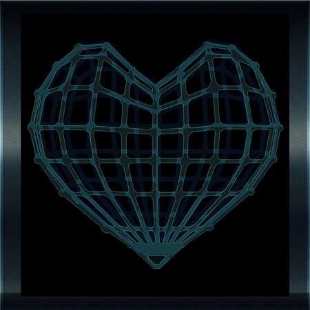 Coeur cage de Verre 3D