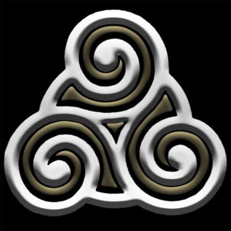 metaal: Keltisch Kruis Volledige Metals Stock Illustratie