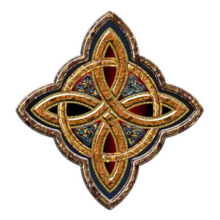 keltisch: Celtic Cross 4 Punkte, die ich