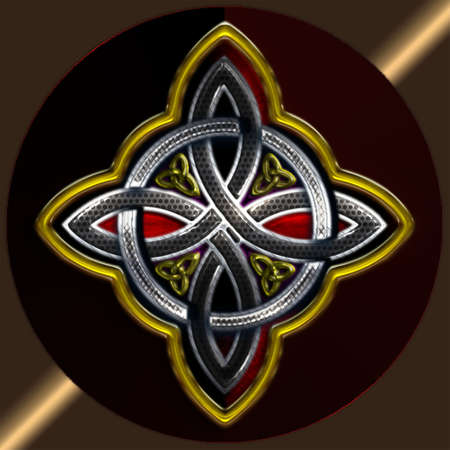 Celtic Cross 4 points II Vector