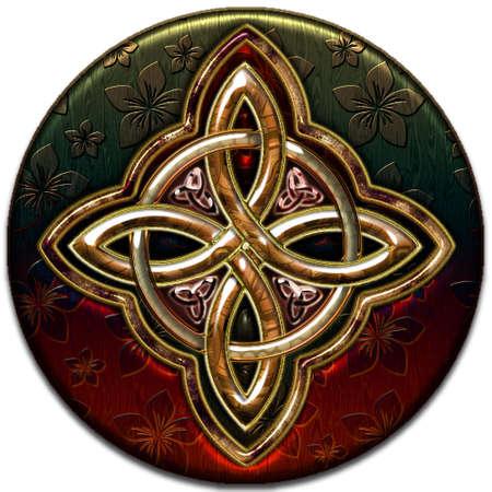 celtico: Croce celtica 4 punti III Vettoriali